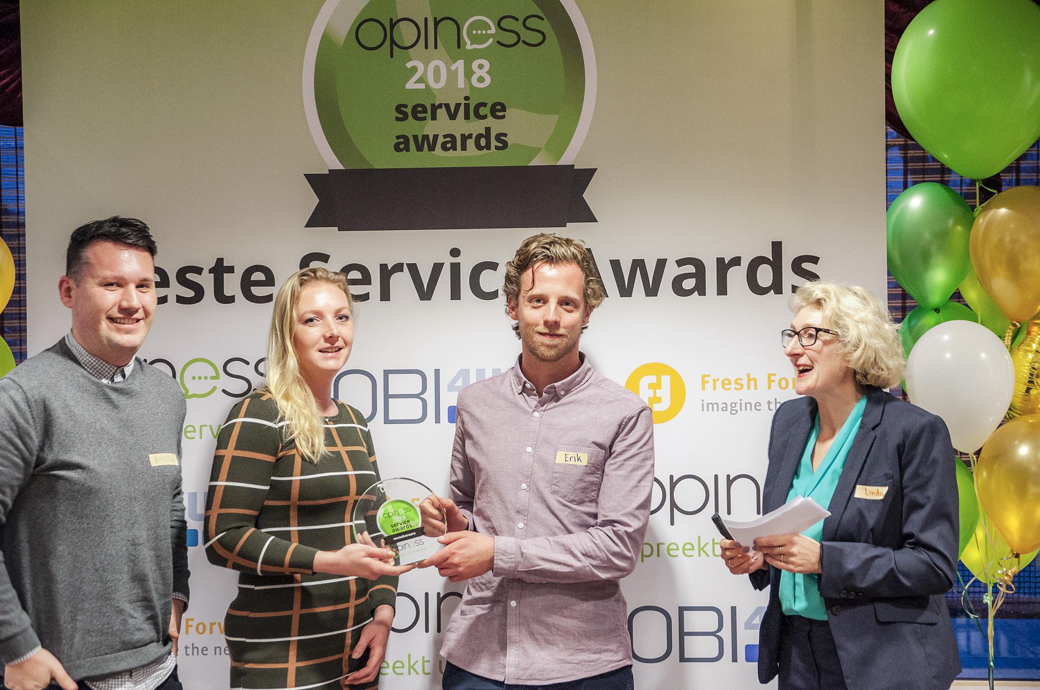 Winnaar Ditzo Opiness Service Award