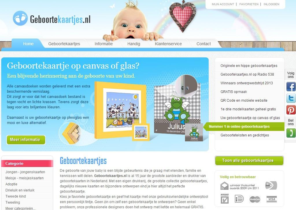 Hippe-Geboortekaartjes.nl
